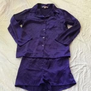 Victoria's Secret purple pajama shorts set Small